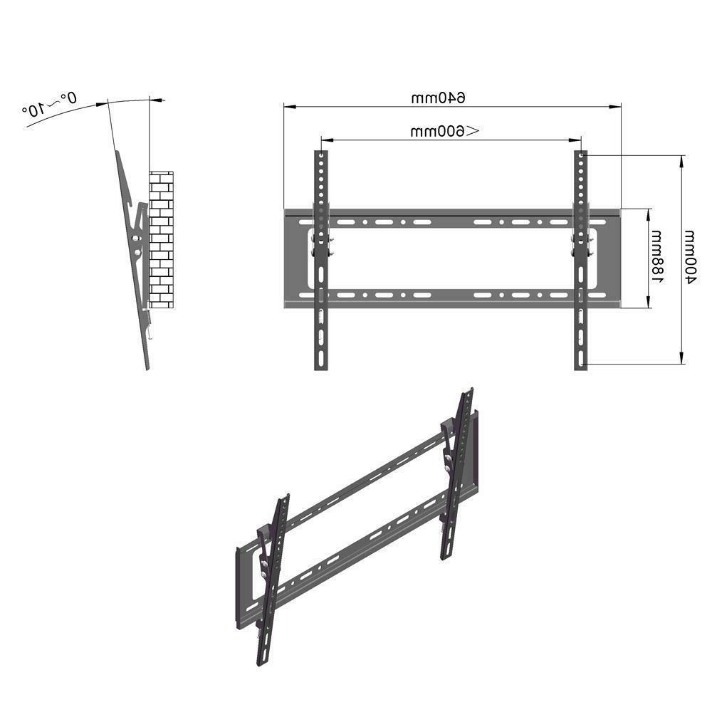 "LED Flat Tilt Stand Wall Bracket 32""-70''"