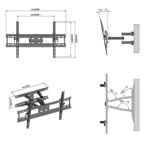 LEADZM 32-70in Full Motion Bracket Stand 600x400