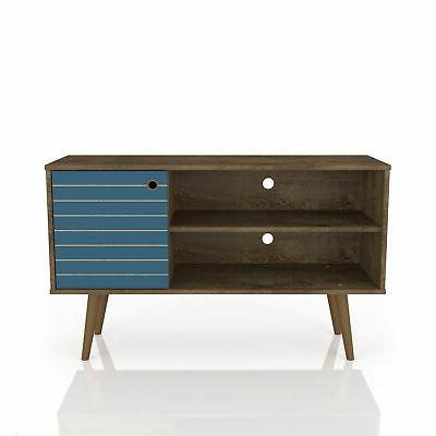 liberty 43 tv stand in rustic brown