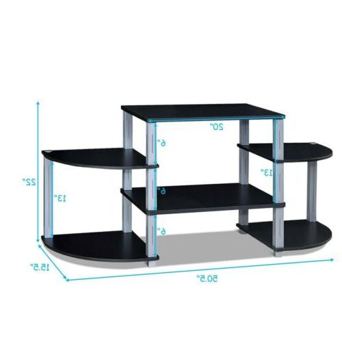 Living 3-Cube Flat TV Stand Storage Shelves Furniture