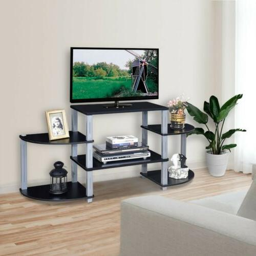 Living Room Modern 3-Cube Flat Screen TV Stand Storage Shelv