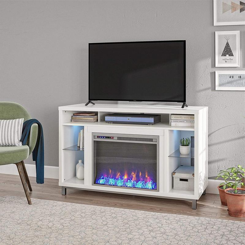 """Ameriwood Home Lumina Fireplace TV Stand For TVs Up To 48"""" W"""