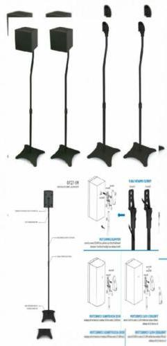 Mount-It! MI-1210 Speaker Stands for Home Theater 5.1 Channe