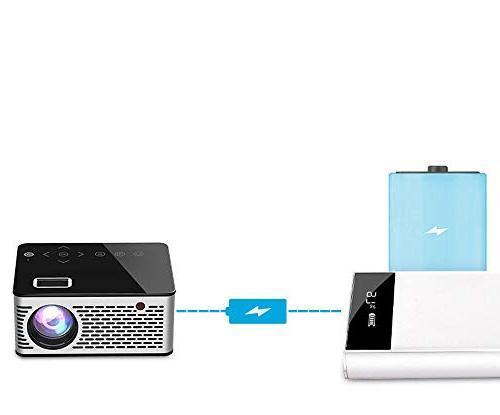 Mini 1080P HD LED 3D Home Theater USB TV VGA SD HDMI Mini