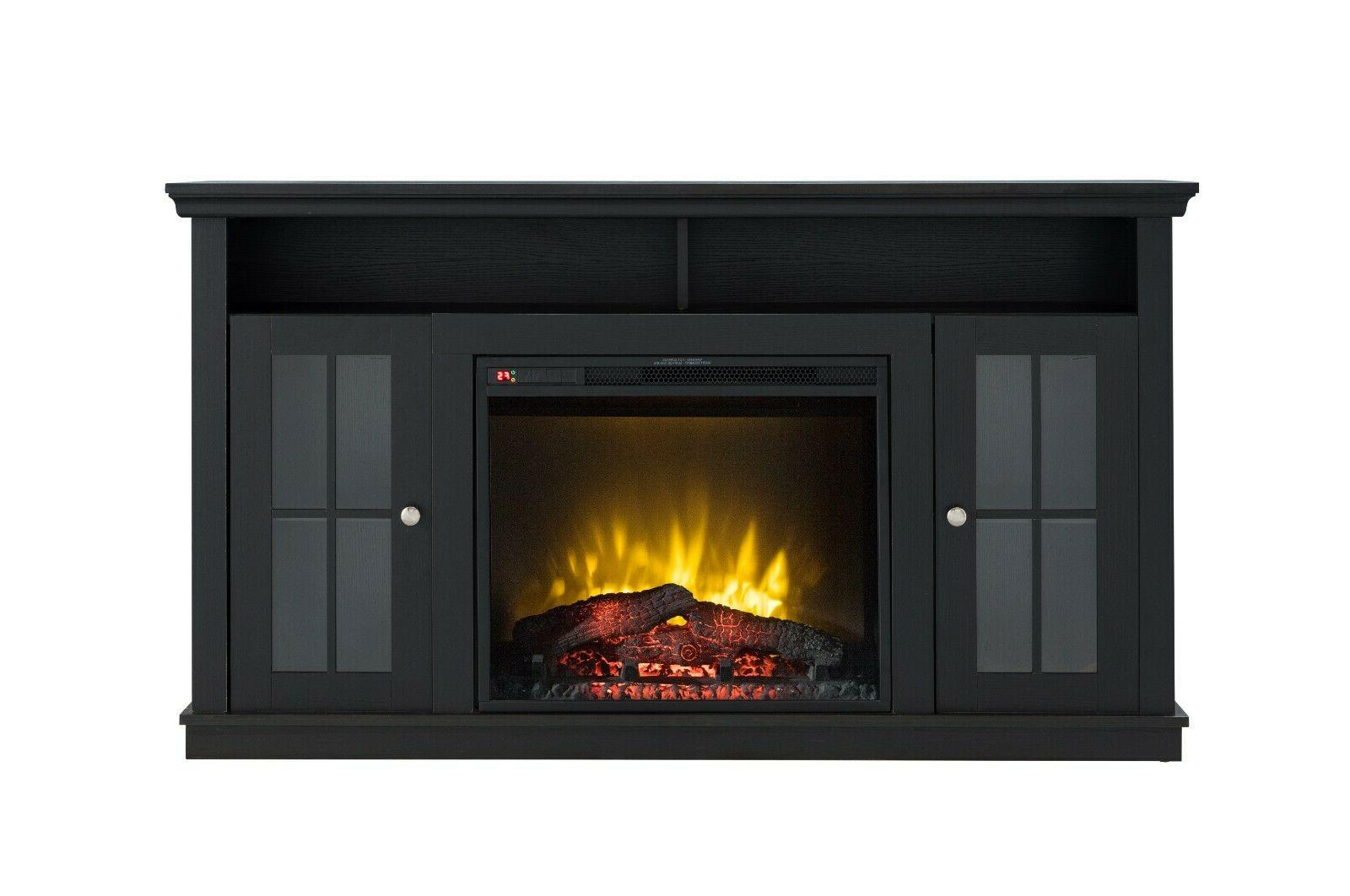 Modern Electric Fireplace Heater Fits Up to Tv