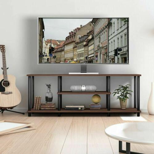 Modern 3-Tier TV Stand Entertainment Console