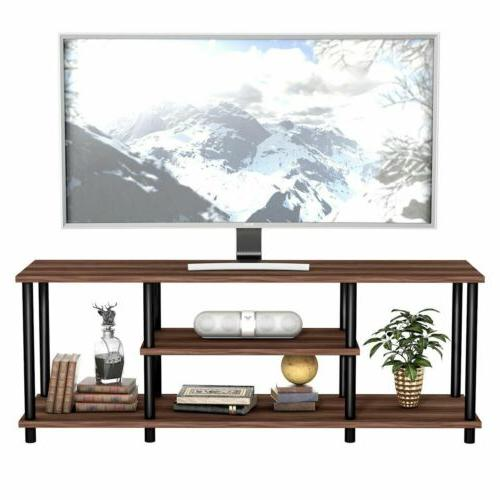modern coffee 3 tier tv stand entertainment