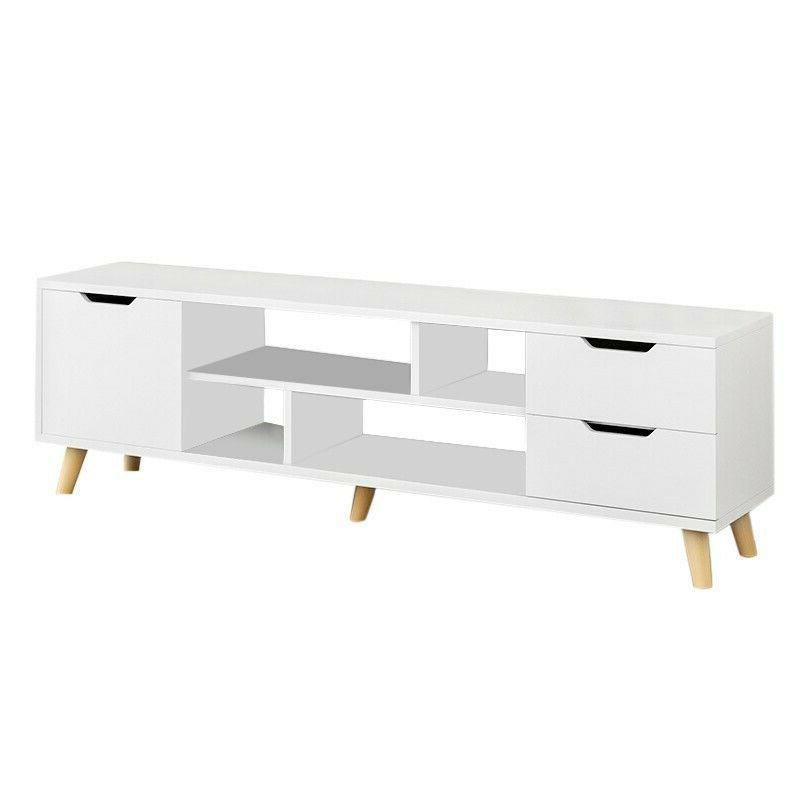 TV Stand Console Media Cabinet for Living RoomWhite