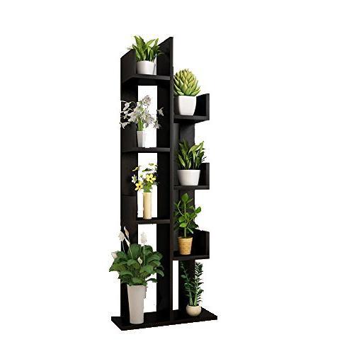 Raumeyun Modern Wooden Stand/Bookshelf Bookcase Stand Decor Accessory