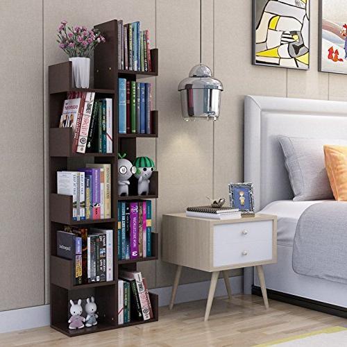 Raumeyun Modern 7-Tier Wooden Shelf/Flower Bookcase Decor Accessory