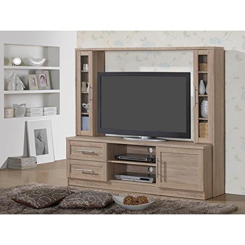 modern designs tan wood tv