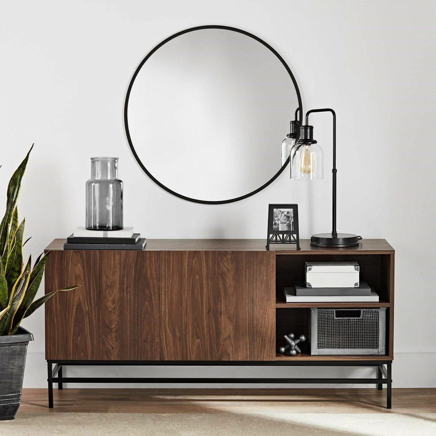 Modern Living Room Console Table Wood TV Stand Hall Entry Ca