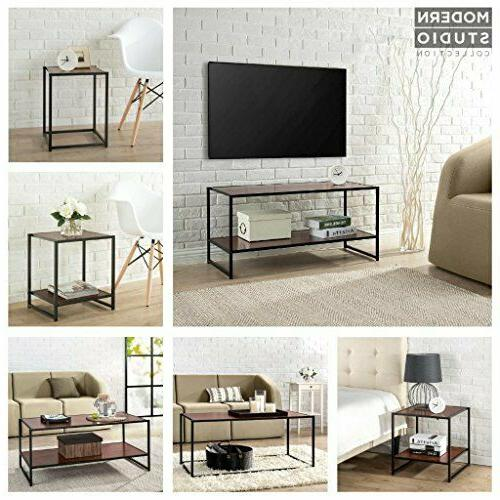 Modern Collection Media Stand Table rich grain