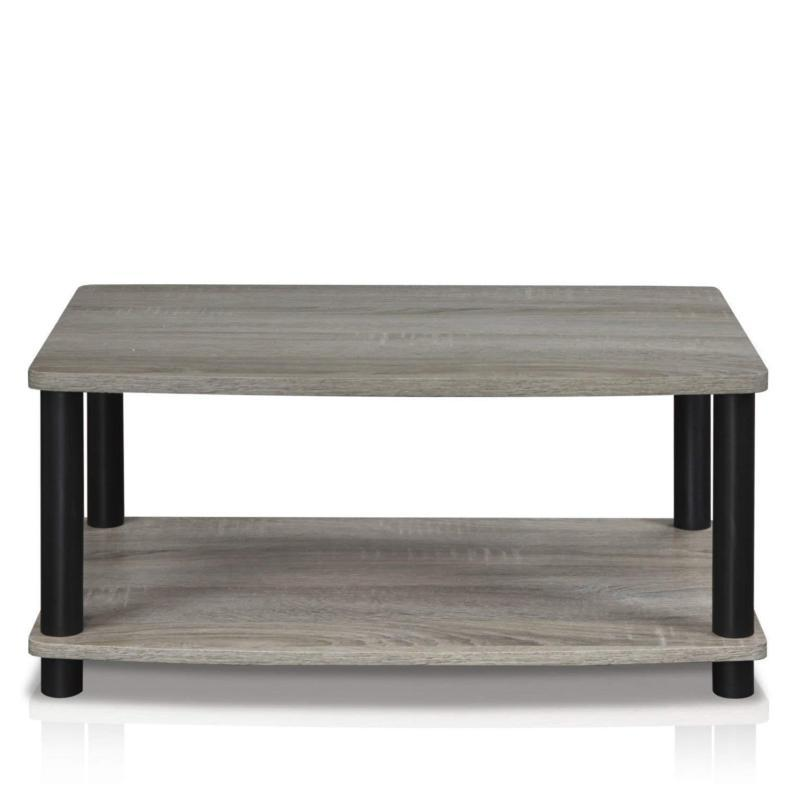 Modern Table Small Elevated TV French Oak & Black New