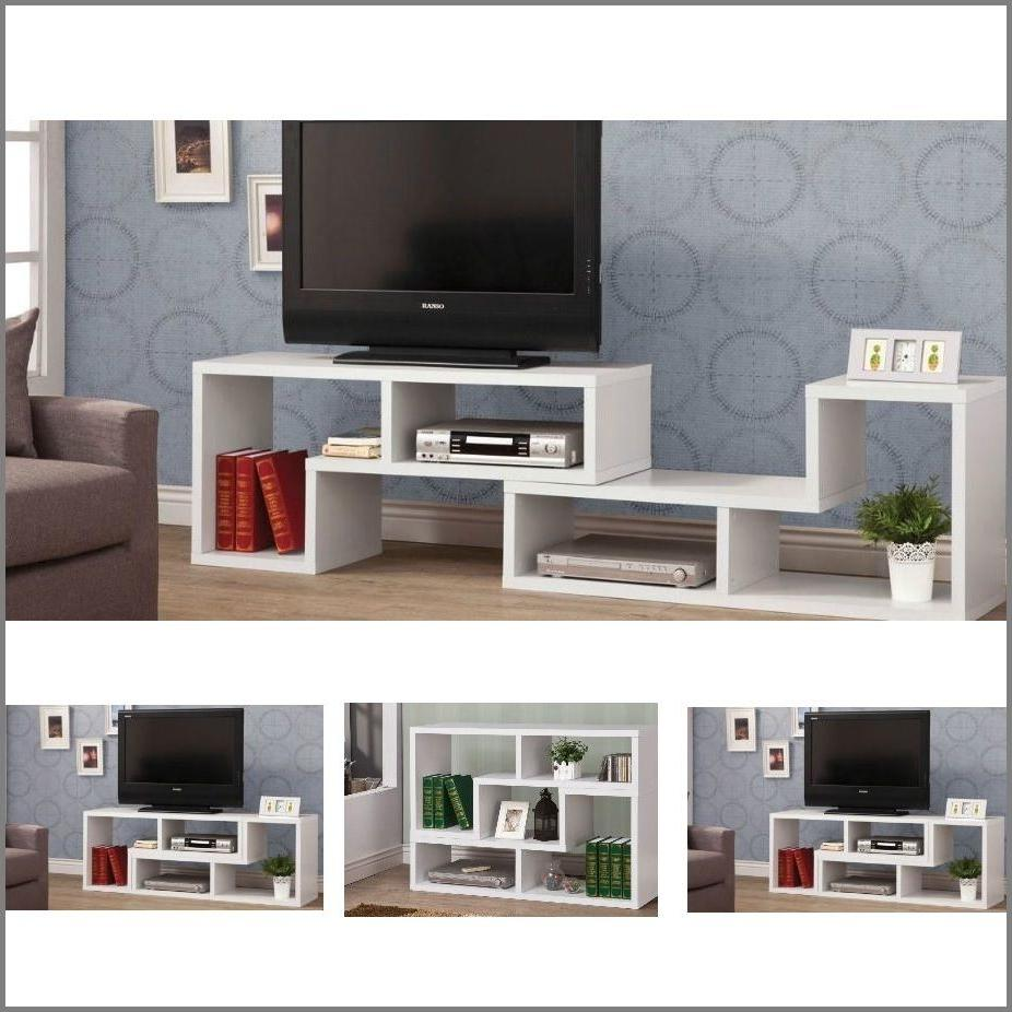 Modern TV Stand Entertainment Book Case Media Center Table W