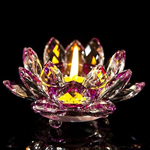 Mikey Store Crystal Tea Light Holders, Candle