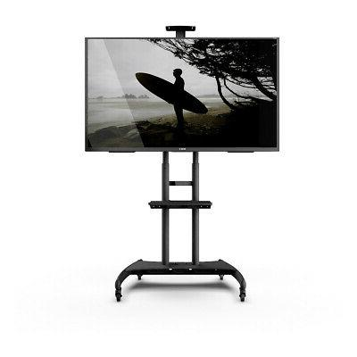 mtm82pl mobile tv mount with adjustable shelf