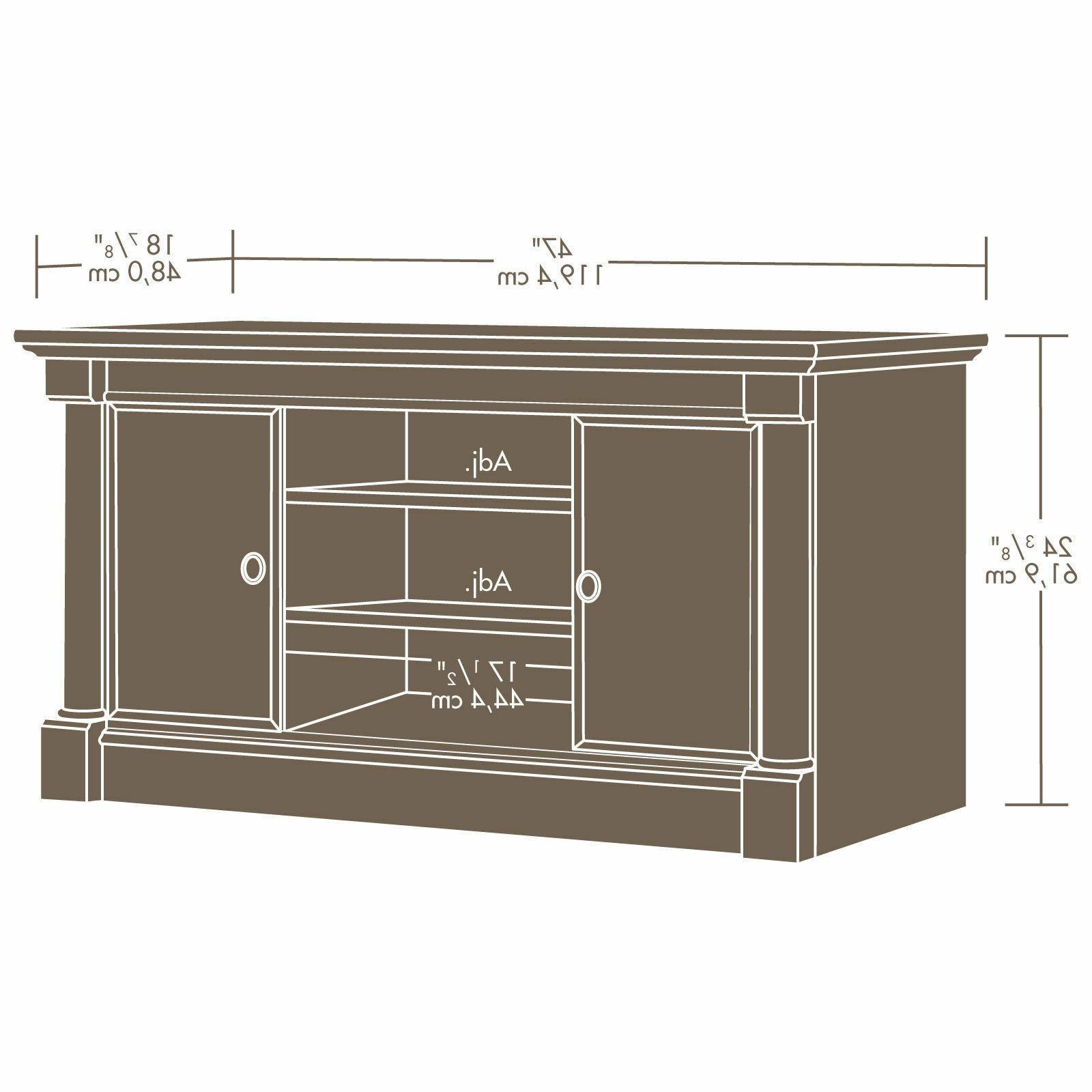 NEW Cherry Wood Center Living Room TV Stand Storage NEW