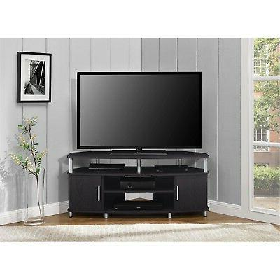 new expresso chrome corner tv media stand
