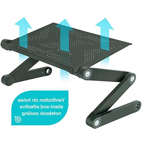 Folding Laptop Table, Adjustable Laptop Stand, Desk for Laptop, Cooling Black
