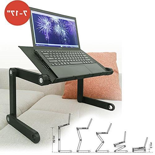 Wonder Worker Folding Laptop Stand, Portable Cooling Pad, Black