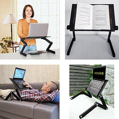 Wonder Folding Laptop Laptop for Tray Cooling Pad, Black