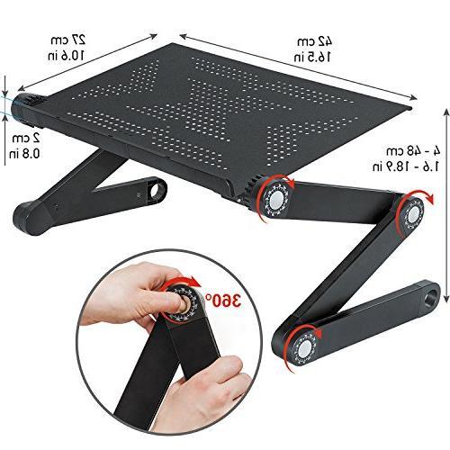 newton ergonomic folding laptop table