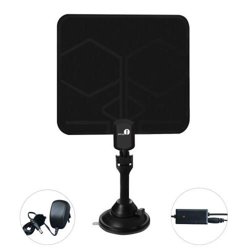 Antenna Miles Range, 1080p for with Booster, 10ft Cable and USB Power