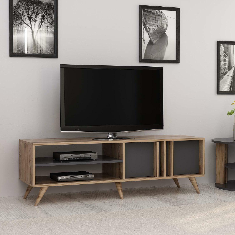 rilla tv stand entertainment console media cabinet