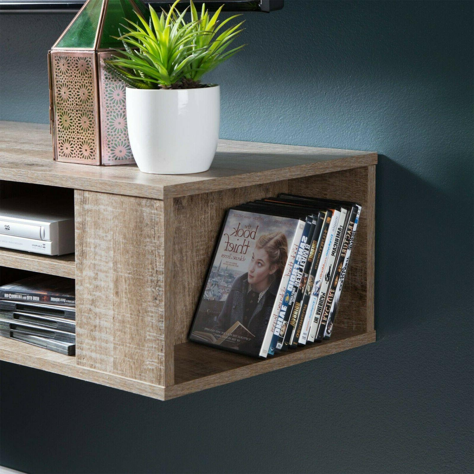Rustic all Mounted TV Stand Entertainment Center Shelves