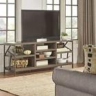 Rustic TV Stand Entertainment Center Distressed Wood Media C