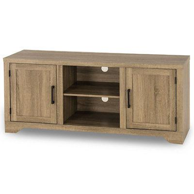 Rustic Entertainment Center Wood Cabinet New