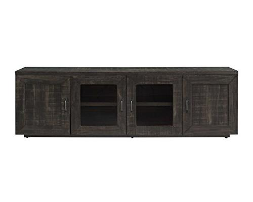 Rustic TV Stands For Flat Screens Console Table Media Adjust