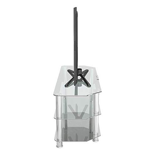 AVF Classic Corner TV with Cable Management, Clear Glass, Legs
