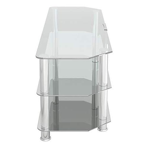 Corner TV Stand with Glass,
