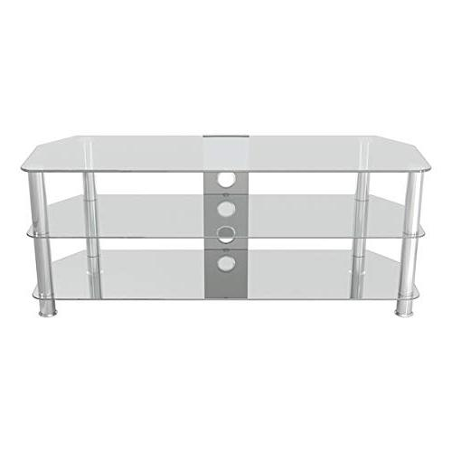 AVF SDC1250CMCC-A Corner with Management, Clear Glass, Legs