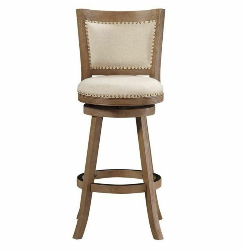 Driftwood Counter Height Swivel Stool 24in Seat Kitchen Bar