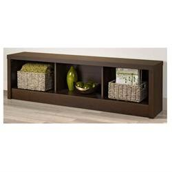 Series 9 Designer Laminate Storage Bench - Finish: Espresso