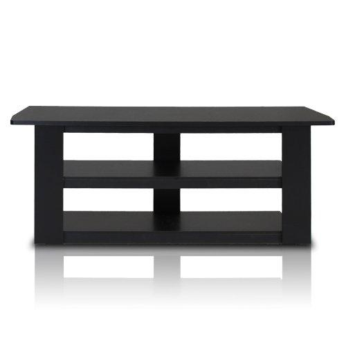 Small Tv Stand Shelves For Flat Screen Media Storage Bedroom Black