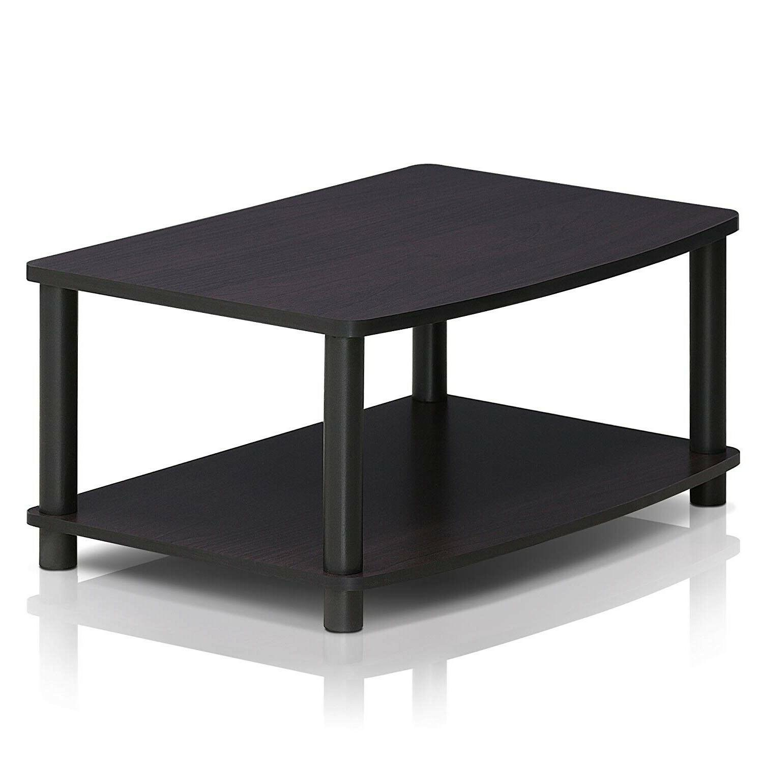 Small With Shelves Media Storage Table For Bedroom Black