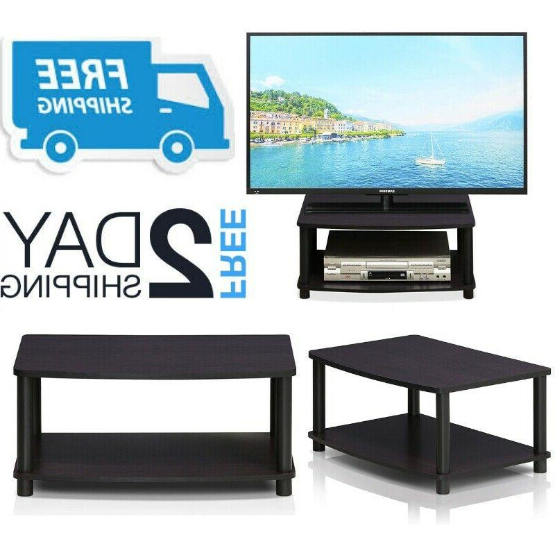small tv stand with shelves media storage