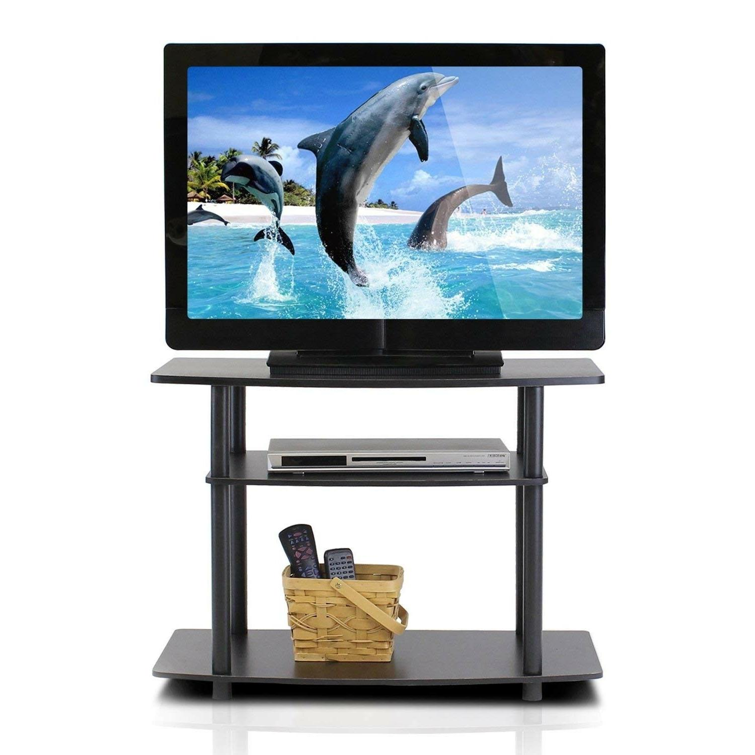 Small With Storage Media Table Black