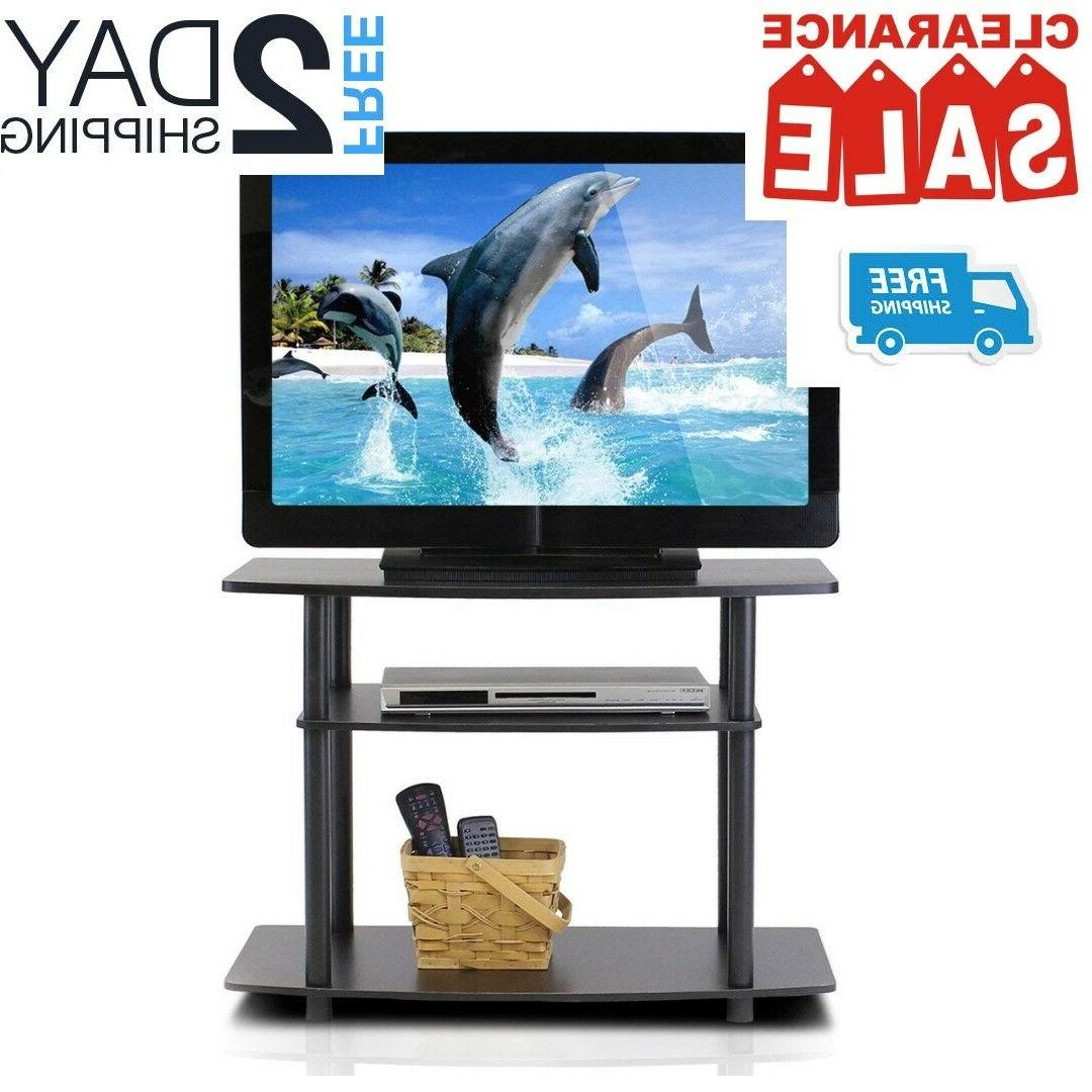 small tv stand with storage media console