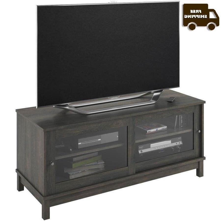 Smart TV Stand Media 55 Gray Cabinet