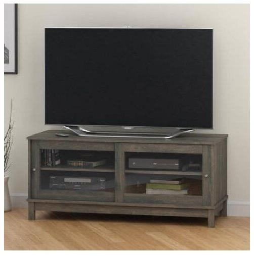 Smart Stand Media Gray Cabinet