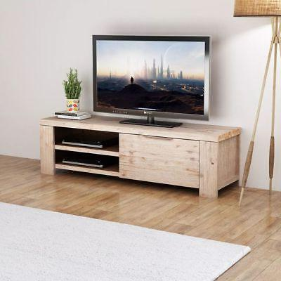 solid acacia wood entertainment unit center tv