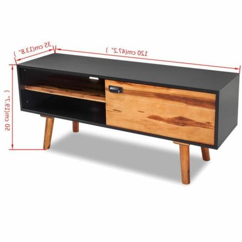 """Modern Cabinet Vintage Television Solid Wood 47.2""""x13.8""""x19.7"""""""
