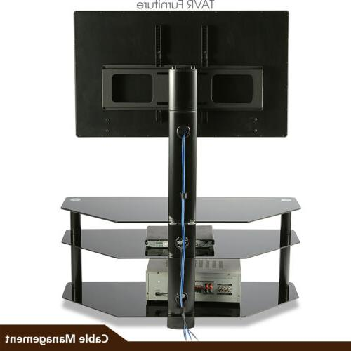 Swivel Floor TV Stand Mount for 37-70 inch Curved TVs