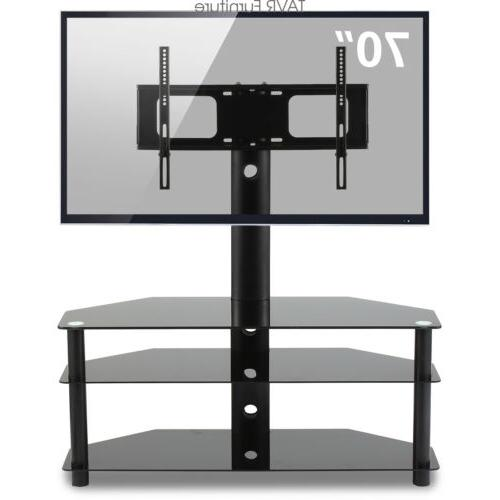 swivel corner floor tv stand with mount