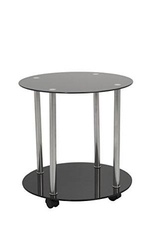 t62 glass chrome two tier